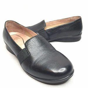 Dansko Slip On Loafers Black Leather Comfortable